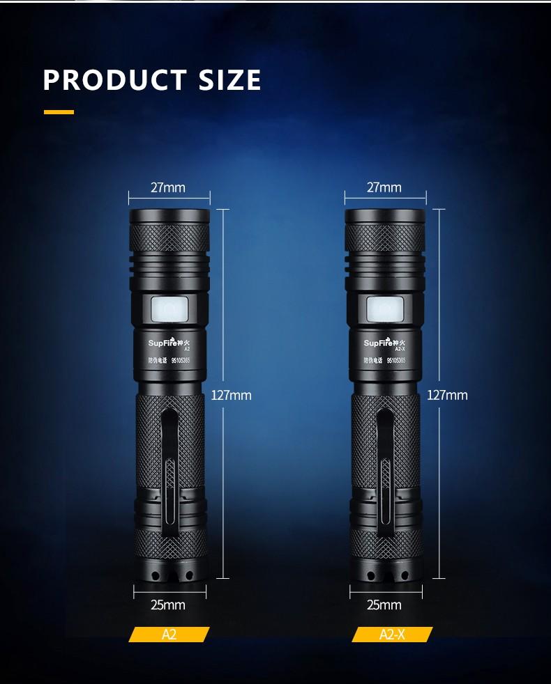 đèn pin mini siêu sáng SupFire A2