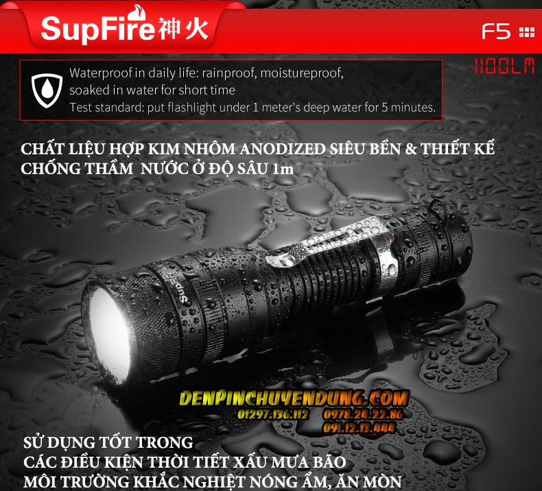 đèn pin nhỏ cầm tay SupFire F5