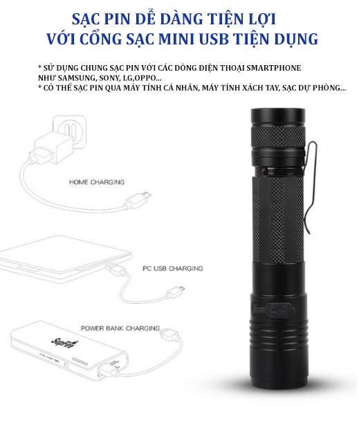 đèn pin mini giá rẻ SupFire A5