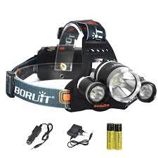 đèn pin đội đầu 3 bóng Boruit RJ 5000
