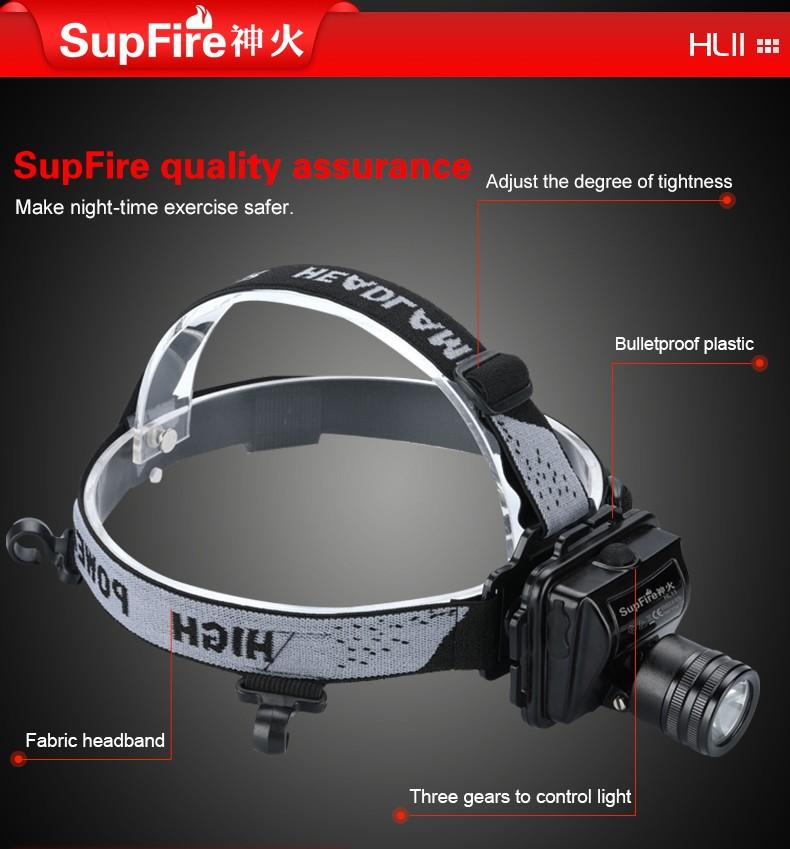 Điểm nổi bật của đèn pin đội đầu chống nước chống cháy nổ chuyên dụng SupFire HL11