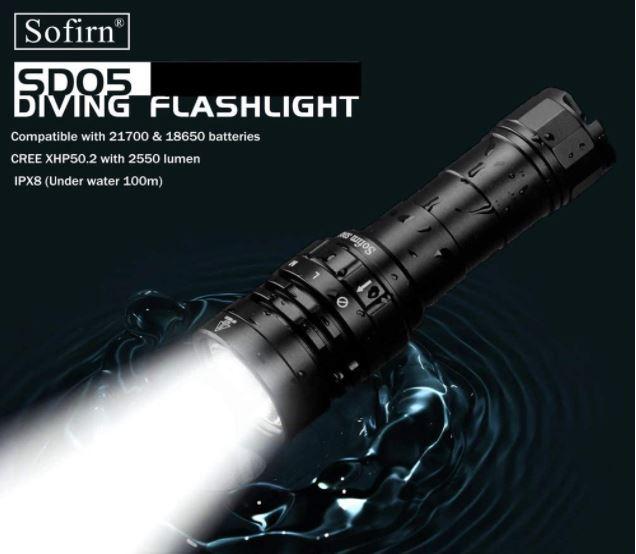 đèn pin lặn biển sofirn sd05