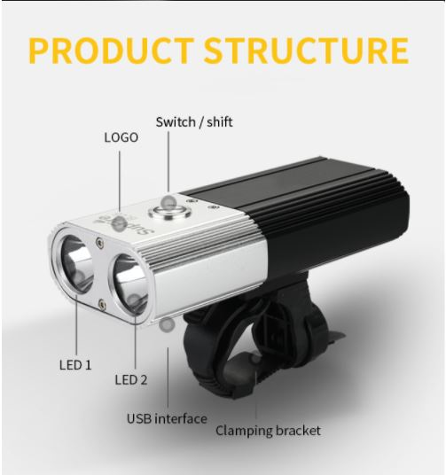 đèn pin xe đạp kiêm sạc dự phòng SupFire BL06