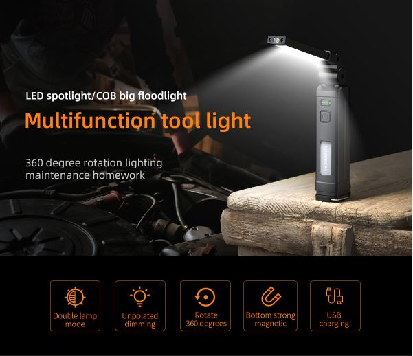 SupFire G16-S Đèn pin LEd COB đa năng